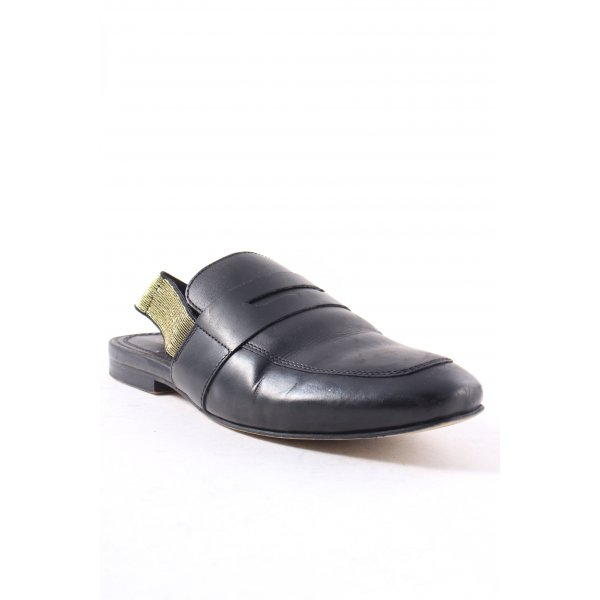 Asos Slipper schwarz Metallic-Optik