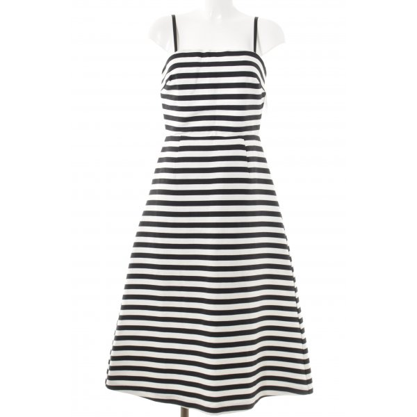 Asos Tall Midi Dress black-white striped pattern elegant