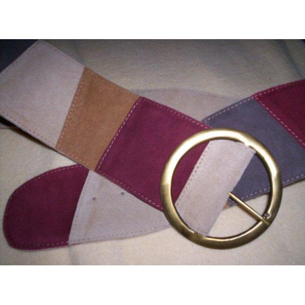 Asos - Wildledergürtel, echtes Leder, mehrfarbig, Länge: 83 - 99 cm