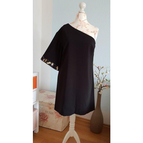 asymmetrisches, schwarzes Minikleid, Etuikleid, Partykleid von asos