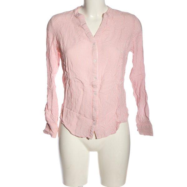 Atmosphere Hemd-Bluse pink-weiß Streifenmuster Business-Look