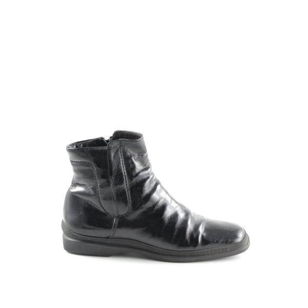 Attilio giusti leombruni Ankle Boots schwarz Glanz-Optik