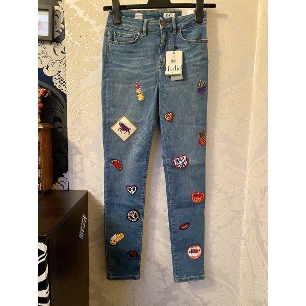ausgefallene Tommy Hilfiger Gigi hadid Jeans skinny fit mit patches W:27 Neu mit Etikett
