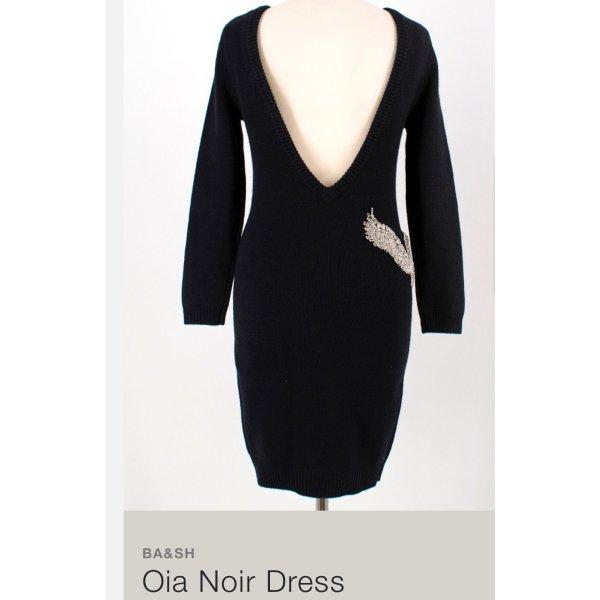 Ba&Sh Kleid NEU Etikett 400€ schwarz strickkkleid sexy XS Strass