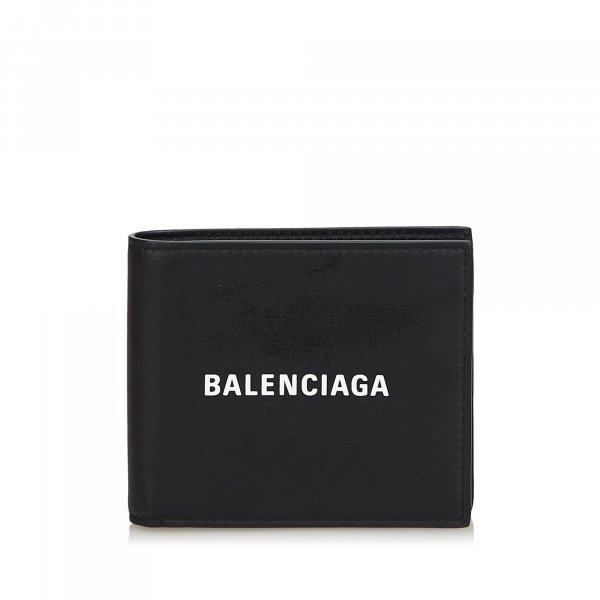 Balenciaga Leather Everyday Square Wallet