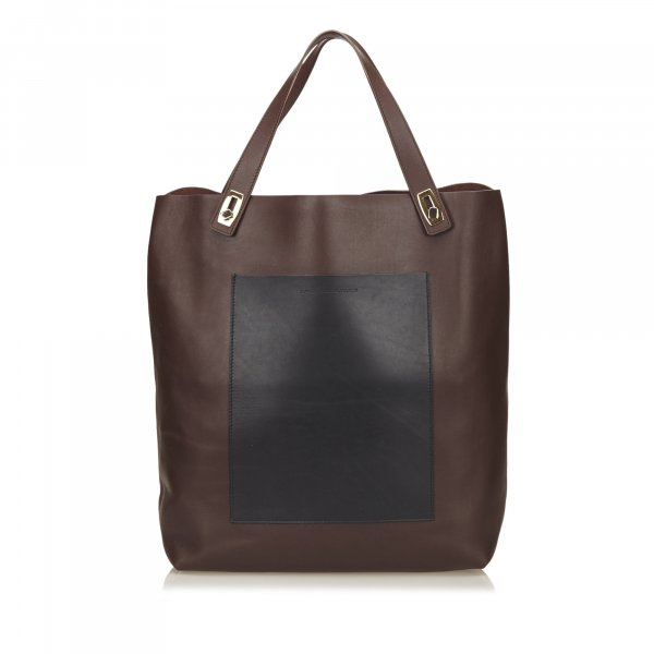 Balenciaga Leather Pocket Tote