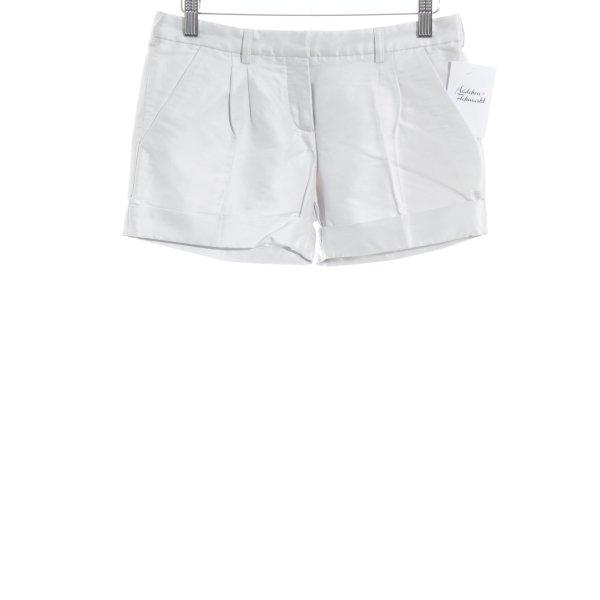 Balenciaga Shorts weiß-silberfarben Metallelemente