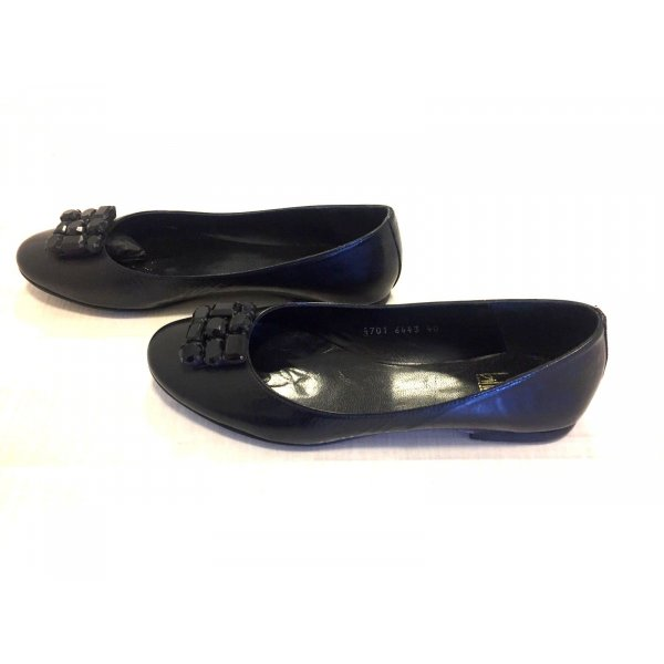Billi Bi Patent Leather Ballerinas black