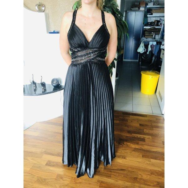 Ballkleid Abschlussballkleid S schwarz/blau Abendkleid