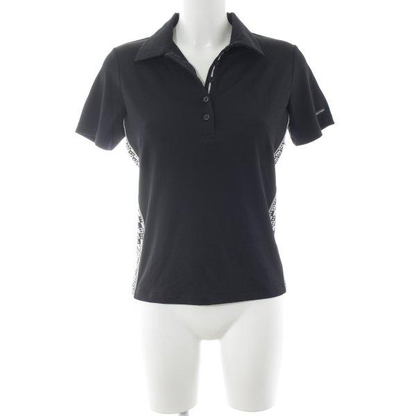 Bally Golf Short Sleeve Shirt black-white simple style