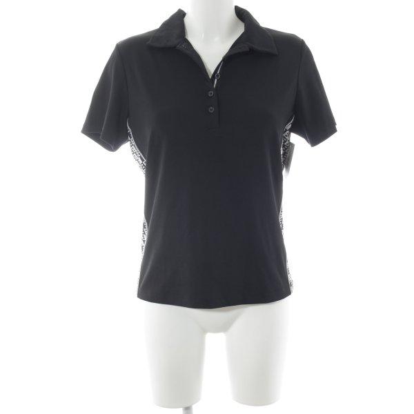 Bally Golf Polo Shirt black-white athletic style