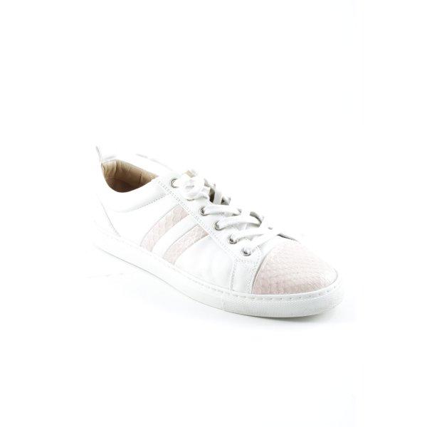 Bally Schnürschuhe weiß-rosa Casual-Look