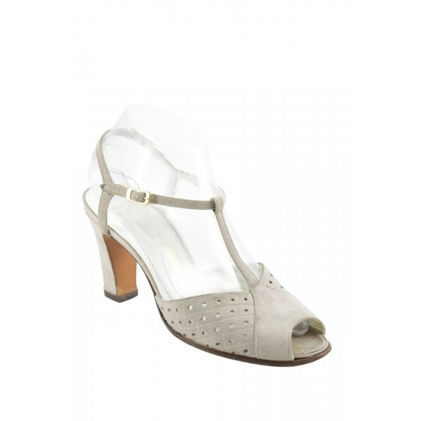 BALLY SUISSE T-Steg-Sandaletten hellgrau Elegant