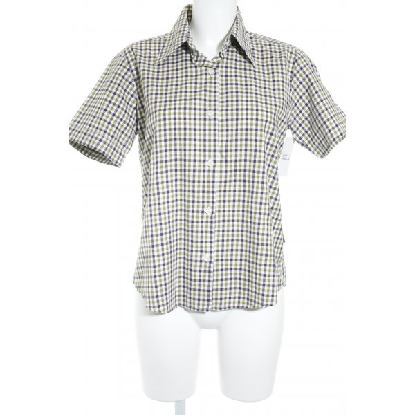 Barbour Kurzarm-Bluse Karomuster Casual-Look
