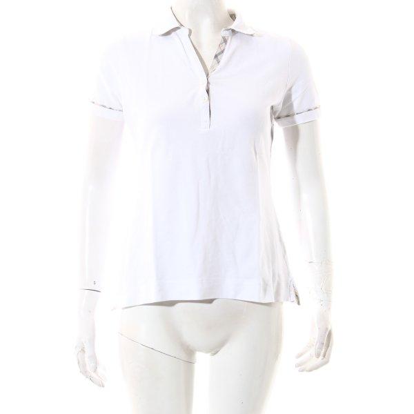 Barbour Polo-Shirt weiß sportlicher Stil