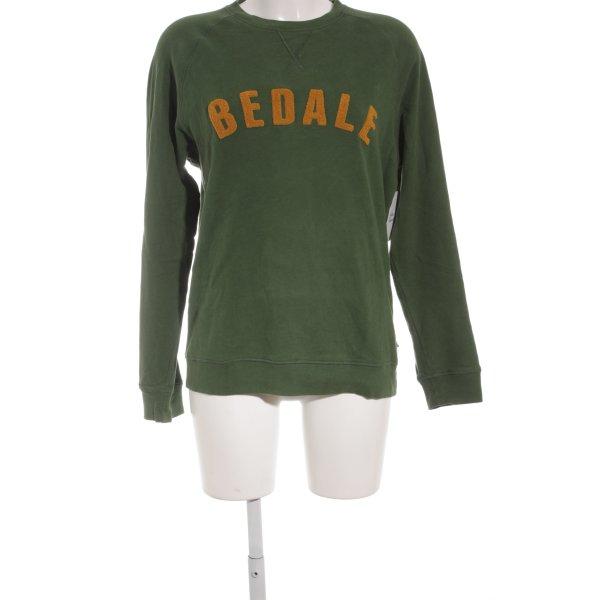 Barbour Sweatshirt waldgrün-dunkelgelb Casual-Look