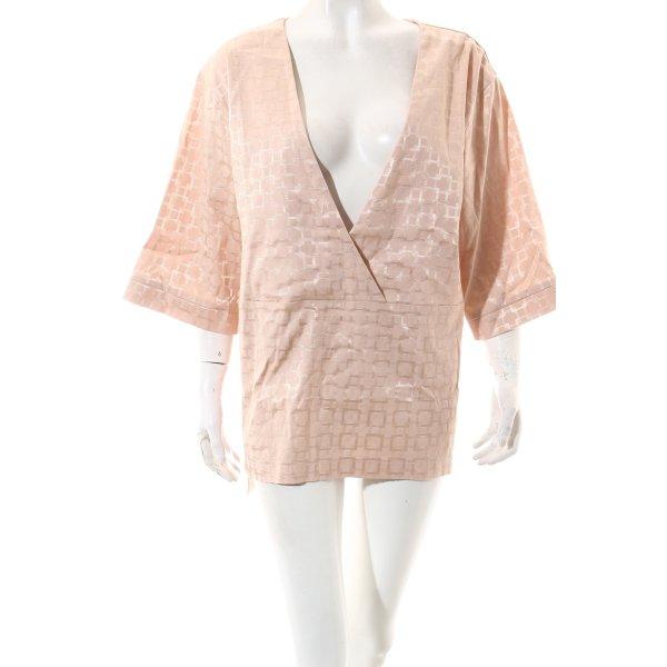 Barre Noire Kimono-Bluse altrosa grafisches Muster Street-Fashion-Look