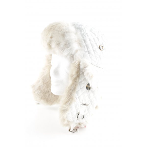Barts Fellmütze weiß Steppmuster Elegant