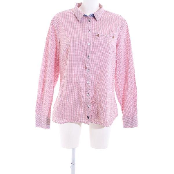Basefield Karobluse pink Karomuster Casual-Look