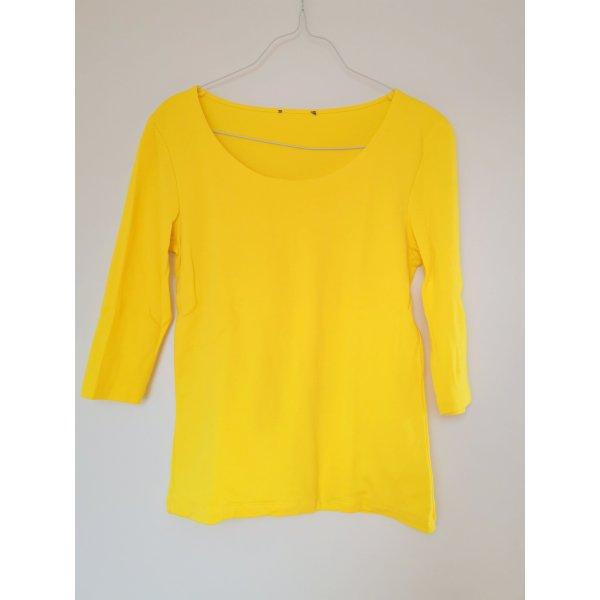 Street One Koszulka basic żółty Bawełna