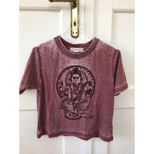 Batik T-shirt mit Ganesha Print crop