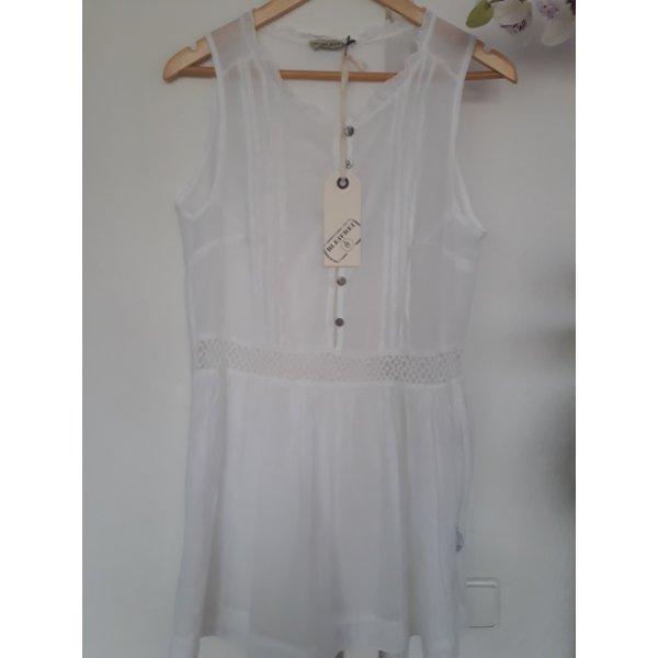 """Baumwolle Bluse """"BLEIFREI"""" mit Rüschen, Weiß; Gr. M; ; NEU mit Etikett"""