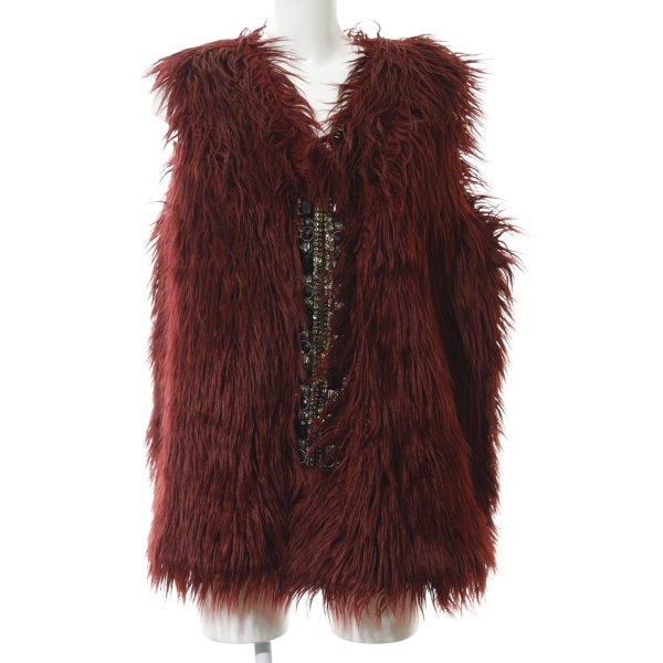 BC Collection Fellweste dunkelrot extravaganter Stil