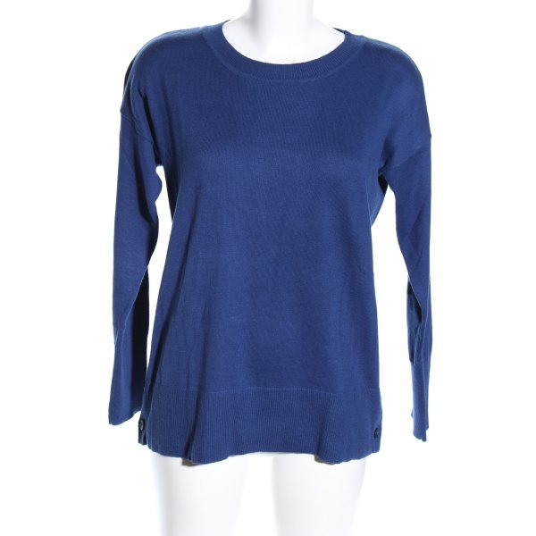 BC Collection Rundhalspullover blau Casual-Look