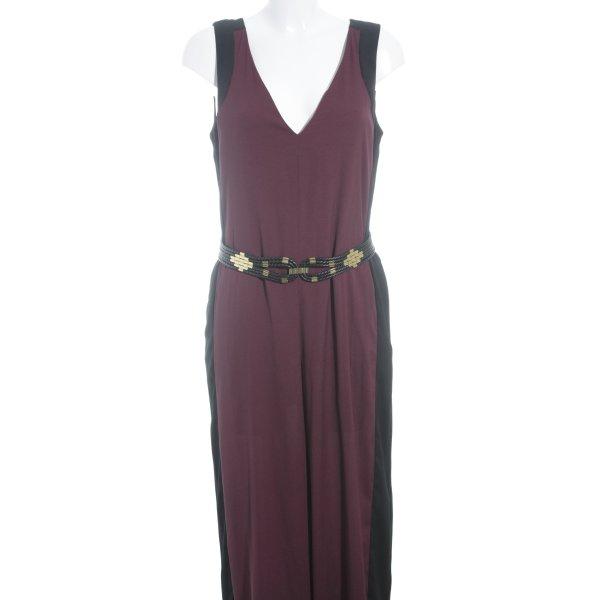 BCBG Maxazria Jumpsuit schwarz-braunrot Colourblocking Casual-Look