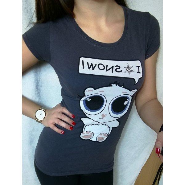 """Bedrucktes """"i love snow"""" T-Shirt Gr. XS"""