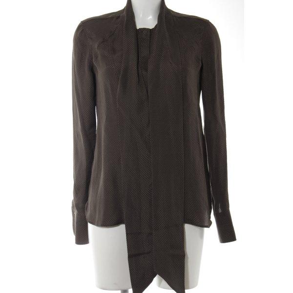 Belstaff Blouse en soie brun foncé-brun motif à carreaux style décontracté