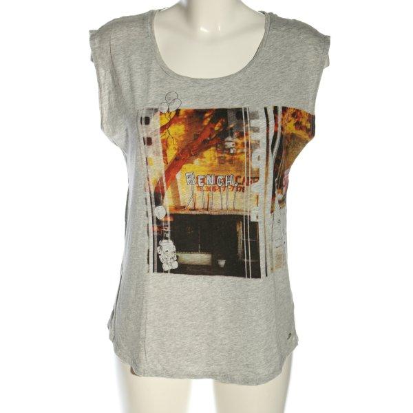 Bench Print-Shirt hellgrau meliert Casual-Look