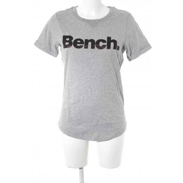 Bench T-Shirt hellgrau-goldfarben Casual-Look