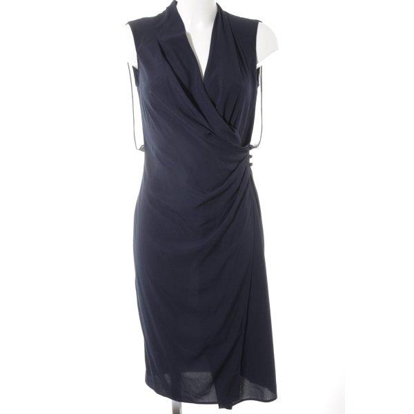 Benetton Chiffon jurk donkerblauw elegant