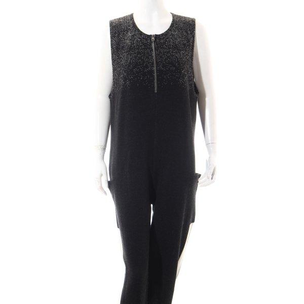 Benetton Jumpsuit schwarz-weiß extravaganter Stil