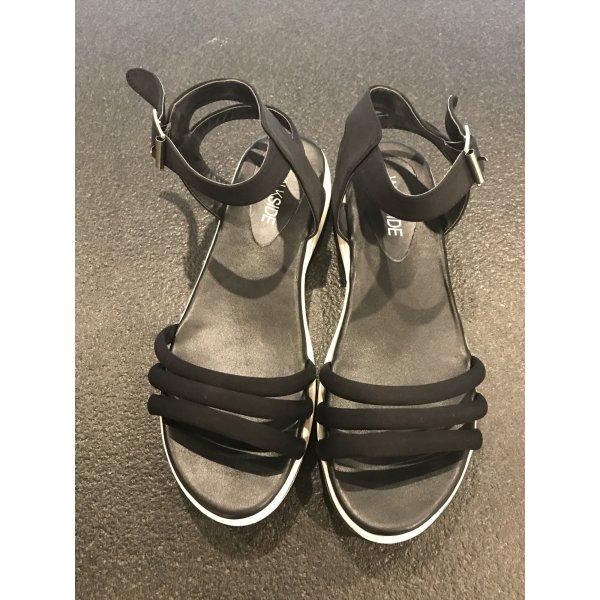 Sandalias para uso en exteriores negro-blanco Material sintético