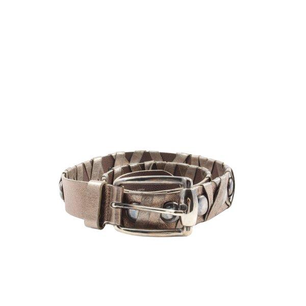 Bergé Leather Belt bronze-colored casual look