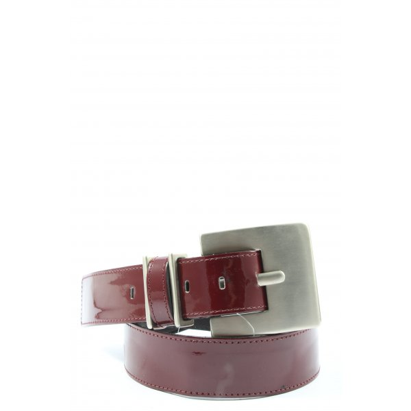 Bergé Leather Belt red casual look