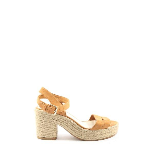 Bershka High Heel Sandaletten hellorange Casual-Look