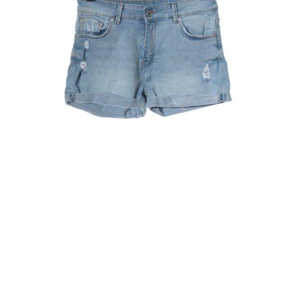 Bershka Jeansshorts blau Casual-Look