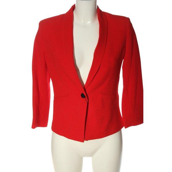 Bershka Kurz-Blazer rot Business-Look
