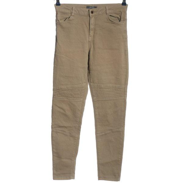 Bershka High Waist Jeans wollweiß Casual-Look