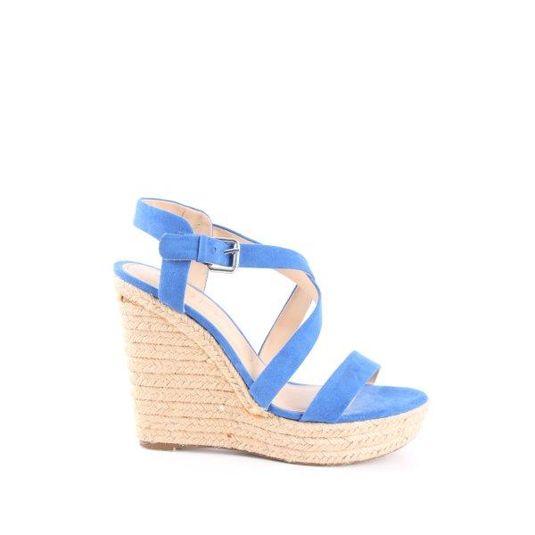 Bershka Wedges Sandaletten blau Casual-Look