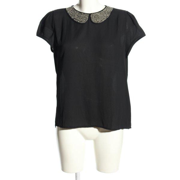 Best emilie Kurzarm-Bluse schwarz Casual-Look