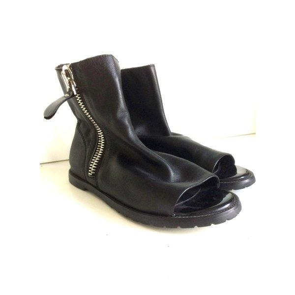 Designer Sandalen-Boots aus Leder, Gr. 39