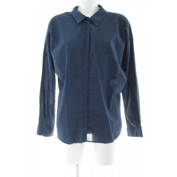 Better Rich Oversized Bluse blau Business-Look