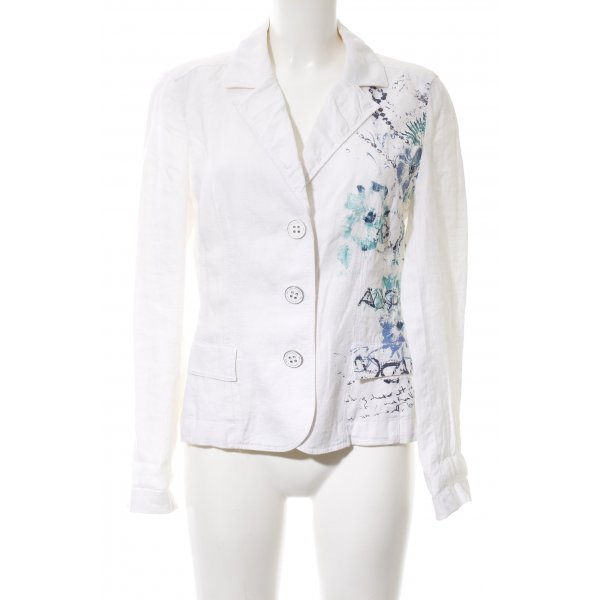 Betty Barclay Blouse Jacket white-blue abstract pattern casual look
