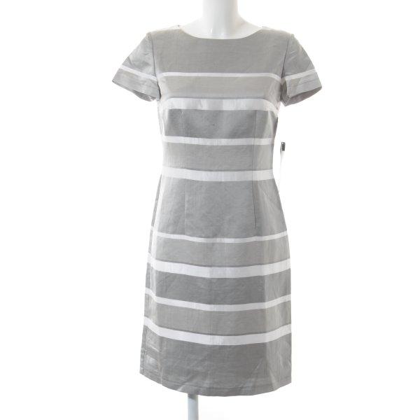 Betty Barclay Etuikleid silberfarben-weiß Streifenmuster Elegant