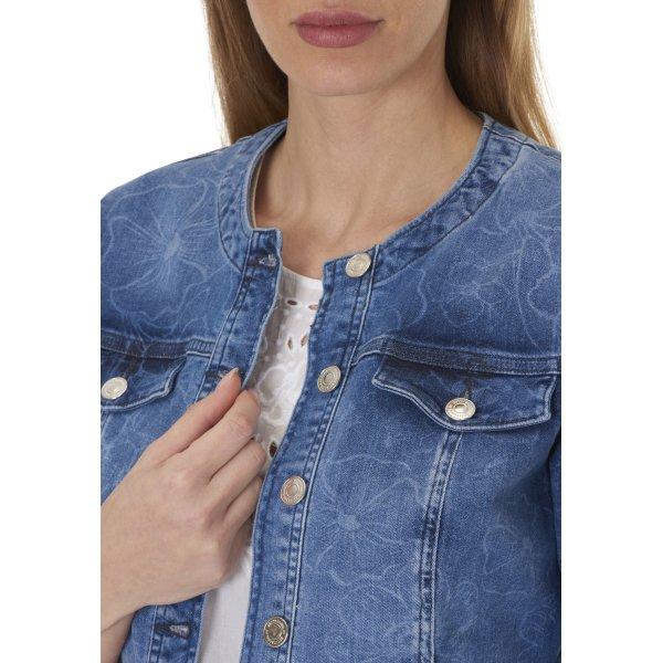 Betty Barclay Jeansjacke mit floralem Muster Gr. 38 NEU mit Etikett
