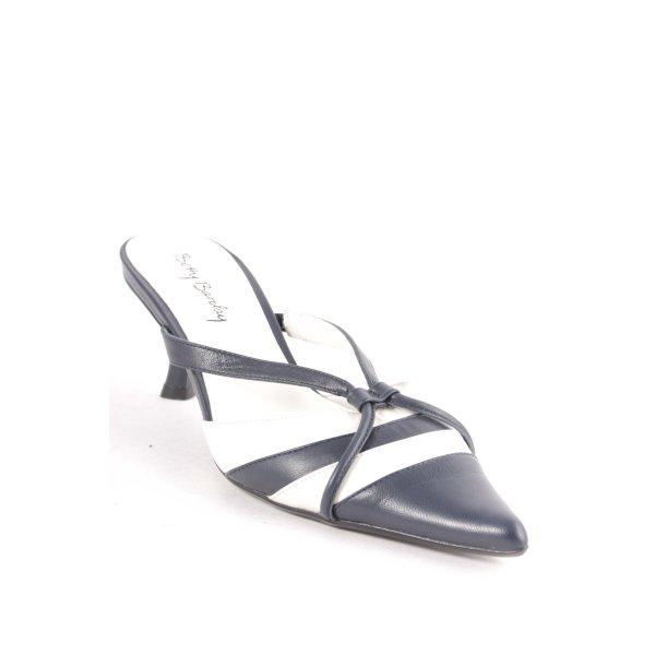 Betty Barclay Pumps dunkelblau-weiß Streifenmuster Elegant
